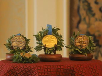Medals of the II European Games, coated with nanodiamonds, were presented in Mir Castle